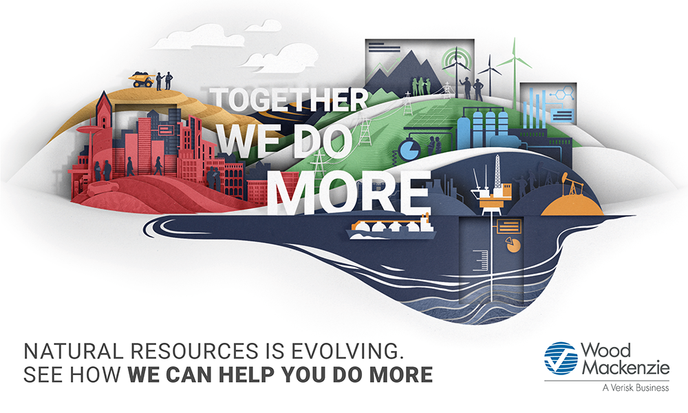 together, we do more - an image showing the areas which Wood Mackenzie covers throughout the supply chain
