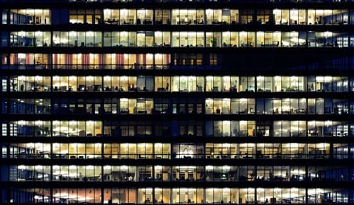Officescape by night