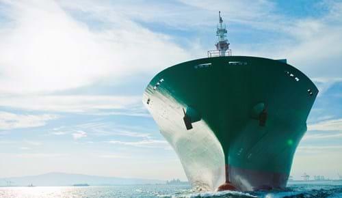 LNG vessel leaves port