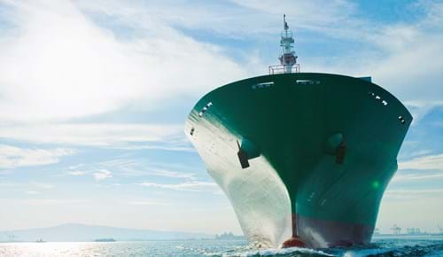 LNG vessel leaves port