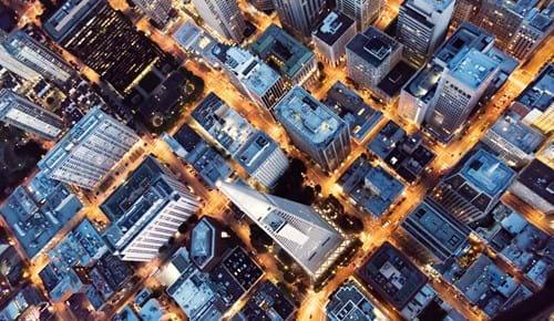 Urban landscape - aerial view
