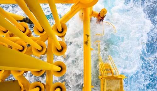Offshore production platform pipework